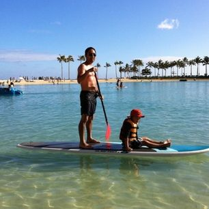 #6. If you're one of the lucky ones down South — try paddle-boarding! Discovered by Emily C. at Hilton Hawaiian Village Resort  Spa, Honolulu, Oahu, Hawaii #Holidays