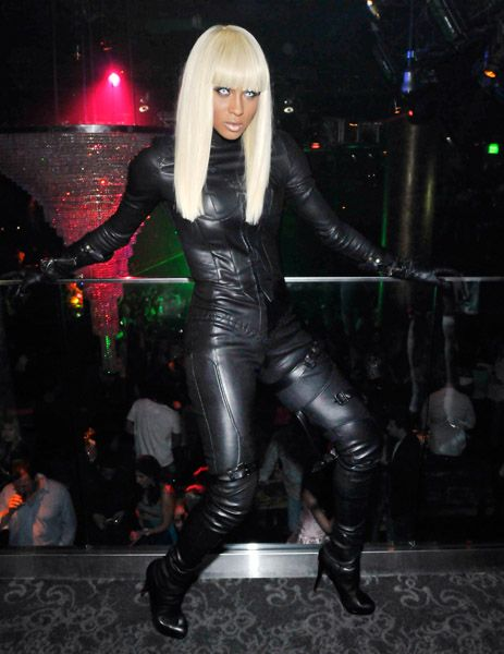 Ciara in a sexy Storm costume fo her 25th birthday party at Haze nightclub