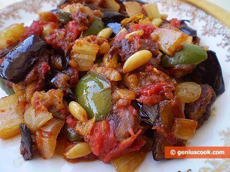 Caponata Siciliana di melanzane | alimentazione vegetariana | Gastronomia Geniale - Ricette di piatti saporiti e utili per la salute