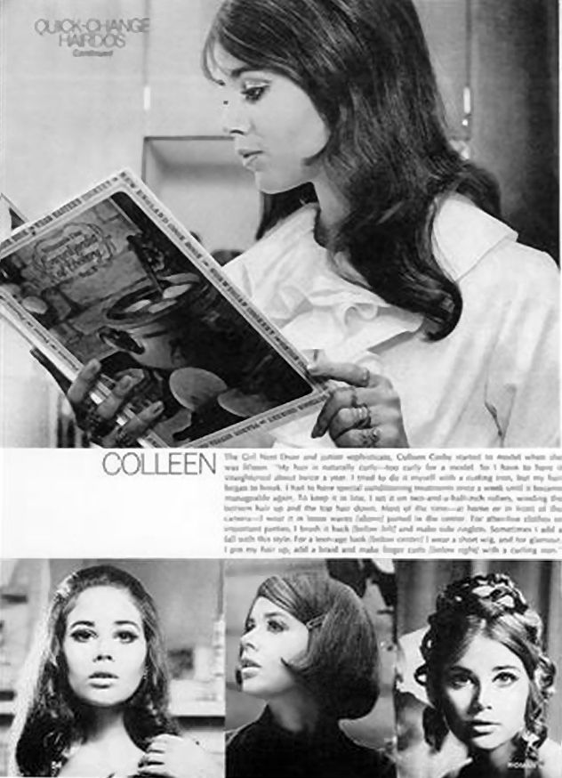 1969 colleen corby | Quick-Change Hairdos ( Woman's Day - April 1969)
