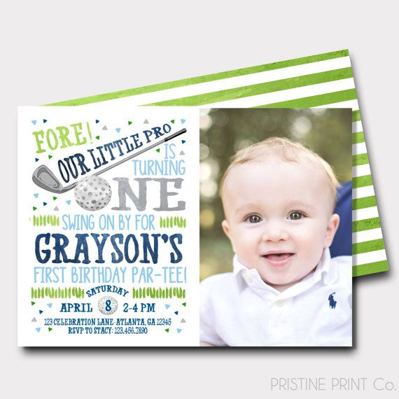 The 25 best Golf first birthday ideas – First Birthday Sayings for Invitations