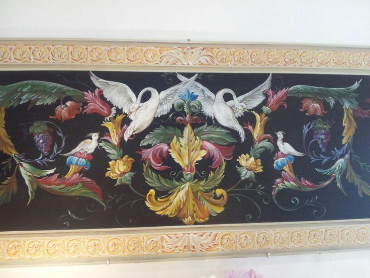 Arianna Fabbretti pitture decorative grottesca su pannello