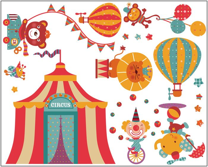 Vinilo decorativo pared Happy Circus