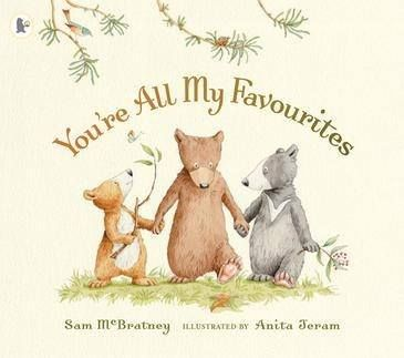 """""""You're All My Favourites"""" is a beautiful book to let little ones know they are all loved equally by their parents. It is a fabulous book to give to a sibling when a new baby comes home! If you love """"Guess How Much I Love you?"""" you will love this book too, same author! (Sam Mcbratney) For ages 2 and up!"""