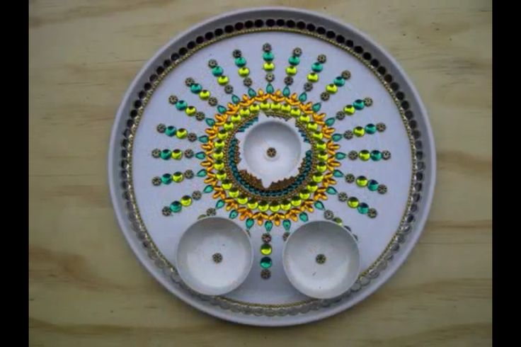 Aarti thali diwali decorations pinterest for Aarti thali decoration ideas