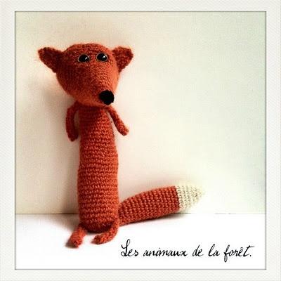 Renard au crochet, création d'Isabelle Kessedjian