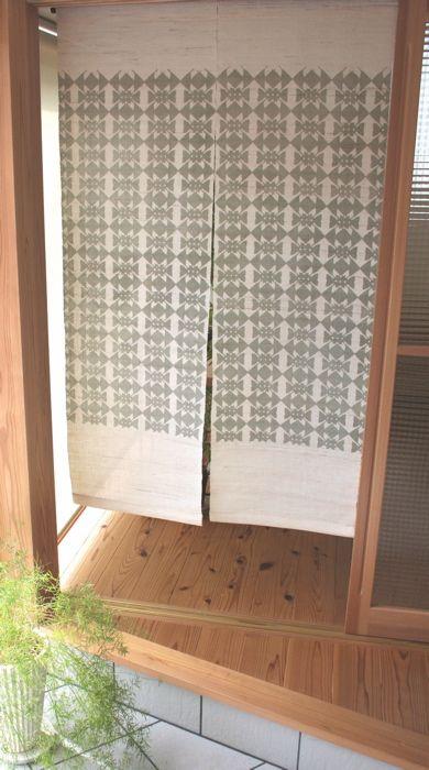 のれん Noren / Yuiko Kamiyama 神山結子 / Japanese Textile Designer, Silk Screen  Print Artist