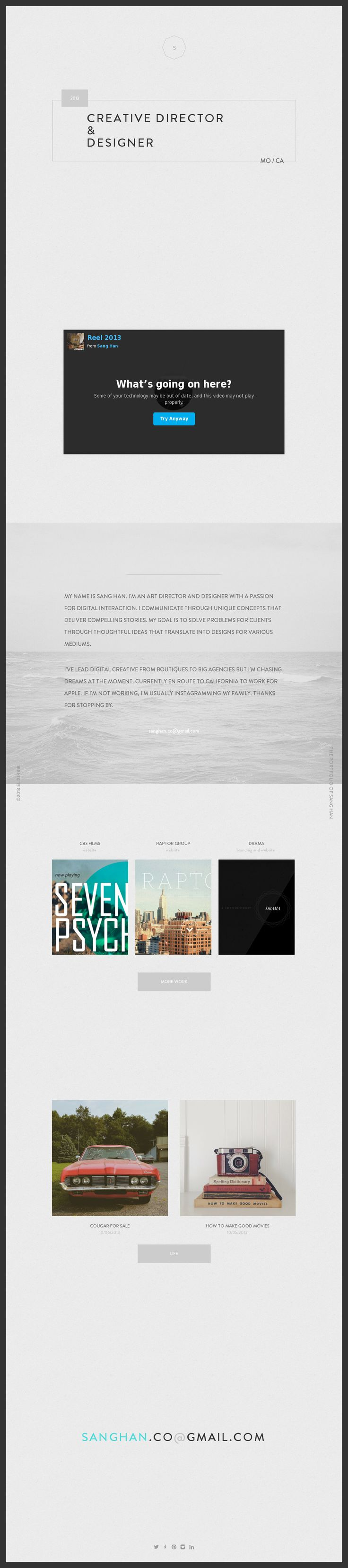 17 best images about clever layouts in web design the portfolio of sang han this one deserves the rare five star inspiration rating