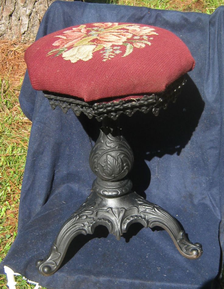 Piano stool with a red needlepoint top having. can buy some at van dykes furniture parts online. & 55 best piano stools images on Pinterest | Piano stool Stools and ... islam-shia.org