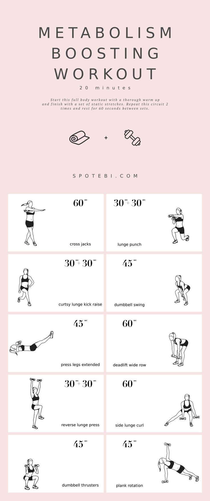20-Minute Metabolism Boosting Workout The secret to burning calories and ultimat… – art