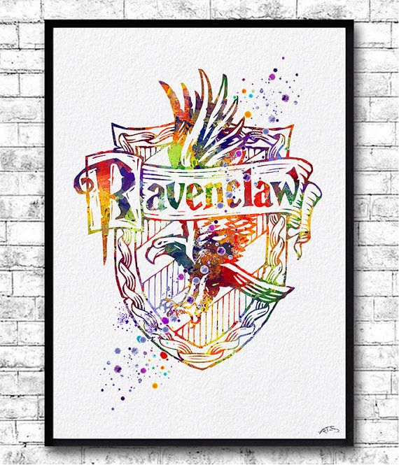 Ravenclaw Crest Watercolor Print Harry Potter Fine by ArtsPrint