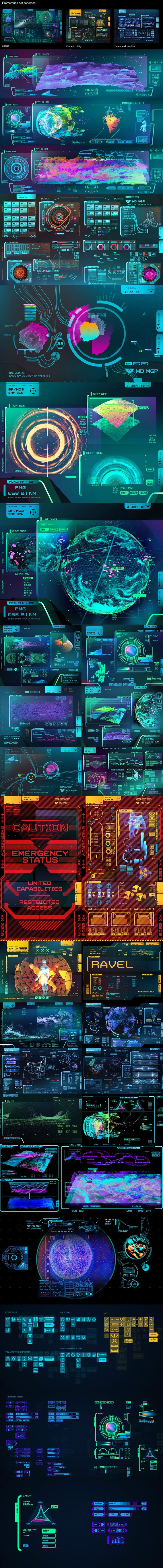 Conceptual user Interfaces & experience constructs of the future, scifi or film vfx
