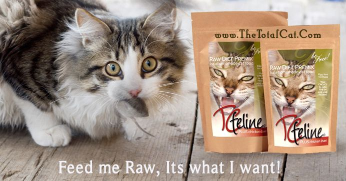 Health Benefits to a Raw Cat Food Diet: - Bladder infections - Lower Urinary Disorder  - Urinary crystals (struvite and oxalate) - Cystitis (bladder Inflammation) - Urethral Blockage - Bladder and Kidney Stones - Obesity - Diabetes - Irritable Bowel Disease - Inflammatory Bowel Disease (IBD) - Kidney Disease (CRF, CKD, Insufficiency) - Hyperthyroidism - Hairballs - Hepatic Lipidosis (Fatty Liver Disease) - Feline Asthma/Allergic Airway Disease  visit www.thetotalcat.com