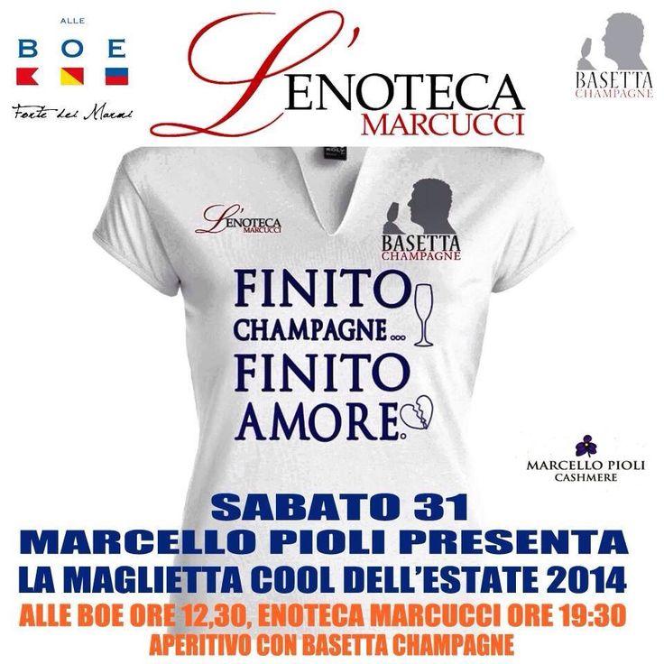 MARCELLO PIOLI events Best Summer t-shirt  L'Enoteca Marcucci Basetta champagne Alle BOE Forte dei Marmi