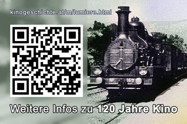 120 Jahre Kino - Kleine Sonderschau im Schaukasten - Infos via QR-Code