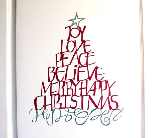 Cricut Christmas Craft Ideas Part - 44: Christmas Word Tree By Wordsworth. Make It Now In Cricut Design Space · Cricut  Projects ...