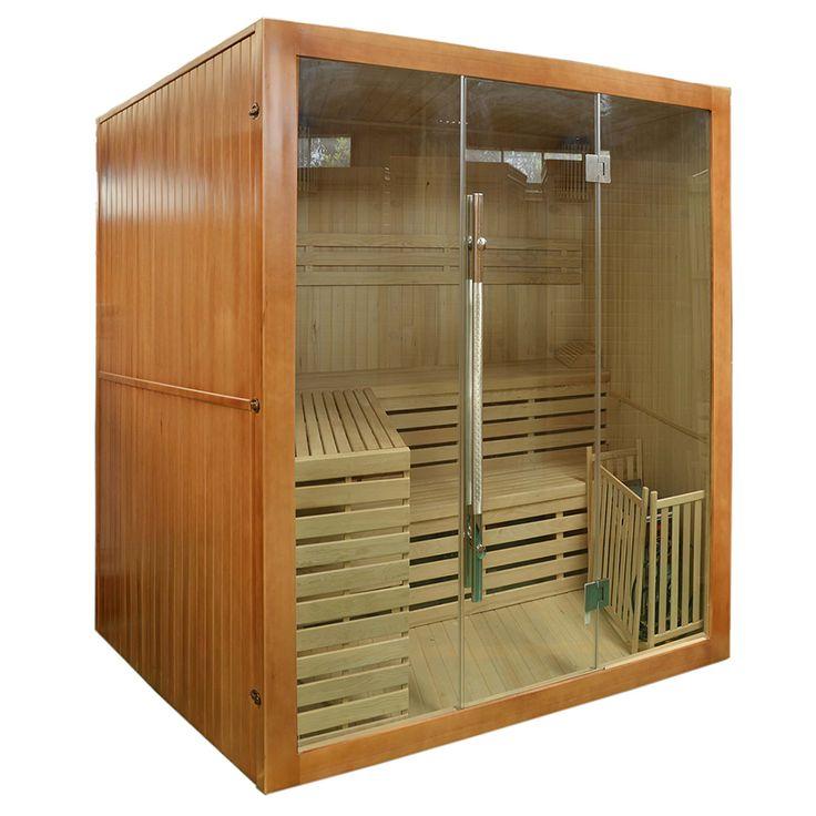 Przestronna, przeszklona sauna fińska jest świetnym sposobem na zregenerowanie organizmu w...