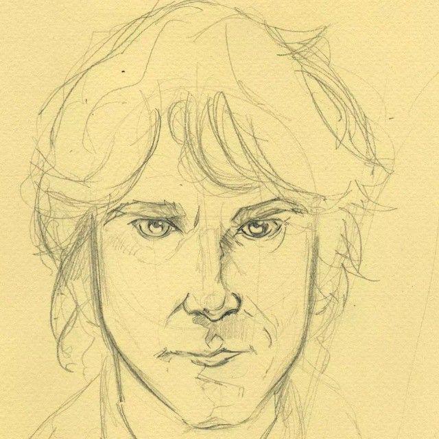 ettobasciano.wordpress.com #art #Sketch #WIP #Draw #Disegno #Illustration #TheHobbit #LordOfTheRings #JRRTolkien #BilboBaggins #MartinFreeman #UltimoViaggio #watercolor
