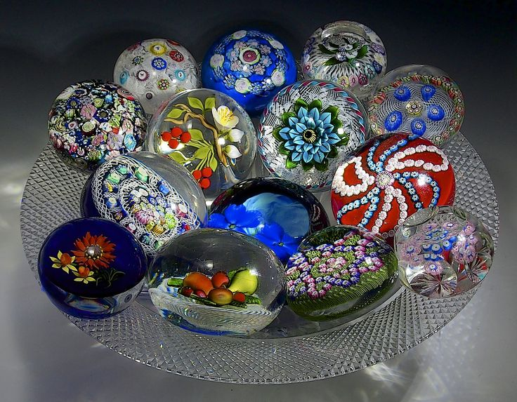 Cape Cod Glass Company Part - 31: Paperweight Centerpiece - TG Hawkes American Brilliant Cut Glass 1890 Bowl,  With Clichy, Baccarat, Cape Cod GW, Saint Louis, New England Glass Co,  Banford, ...
