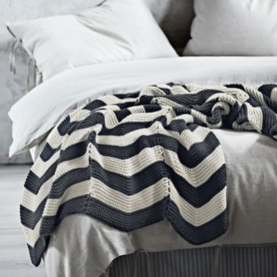Love the monochrome colour sheme. I must get this throw blanket!