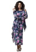 Plus Size Floral Georgette Jacket and A-Line Dress image floral and feminine so pretty