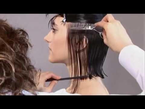 Стрижка боб каре без челки видео. Женская стрижка на средние волосы - YouTube