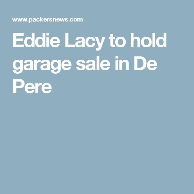 Eddie Lacy to hold garage sale in De Pere