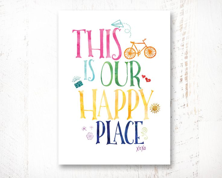 This Is Our Happy Place, 8x10, Home decor, Wisdom Wall Art, Typography Art Print Poster, Instant Download, Printable by WisdomWallArt on Etsy