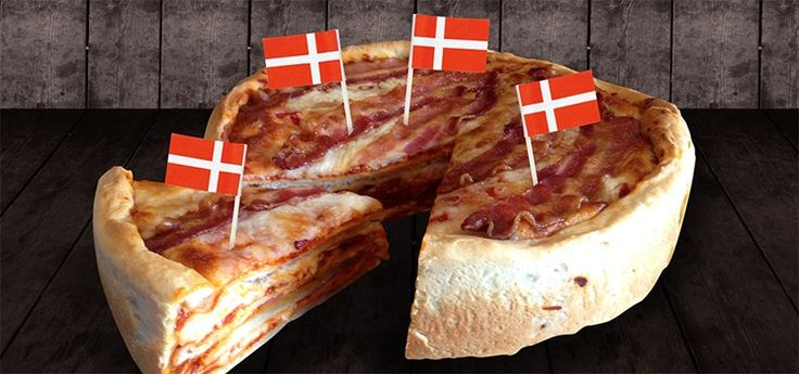 Opskrift med bacon | Bacon-pizza-lagkage | Tulip Bacon