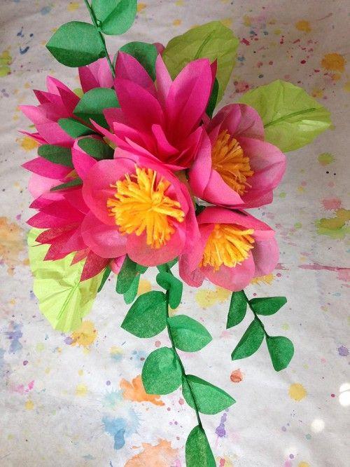 Paper Flower DIY by Kelsey for Design*Sponge