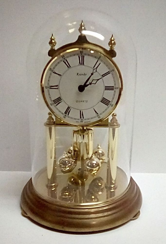 Details About Vintage Kundo Anniversary Clock With Glass