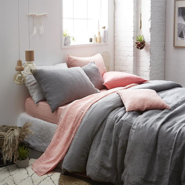 17 meilleures id es propos de housse de couette grise. Black Bedroom Furniture Sets. Home Design Ideas