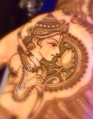 Lord Ram in mehndi
