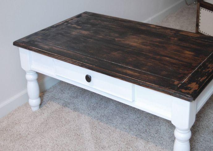 top 25+ best distressed wood coffee table ideas on pinterest