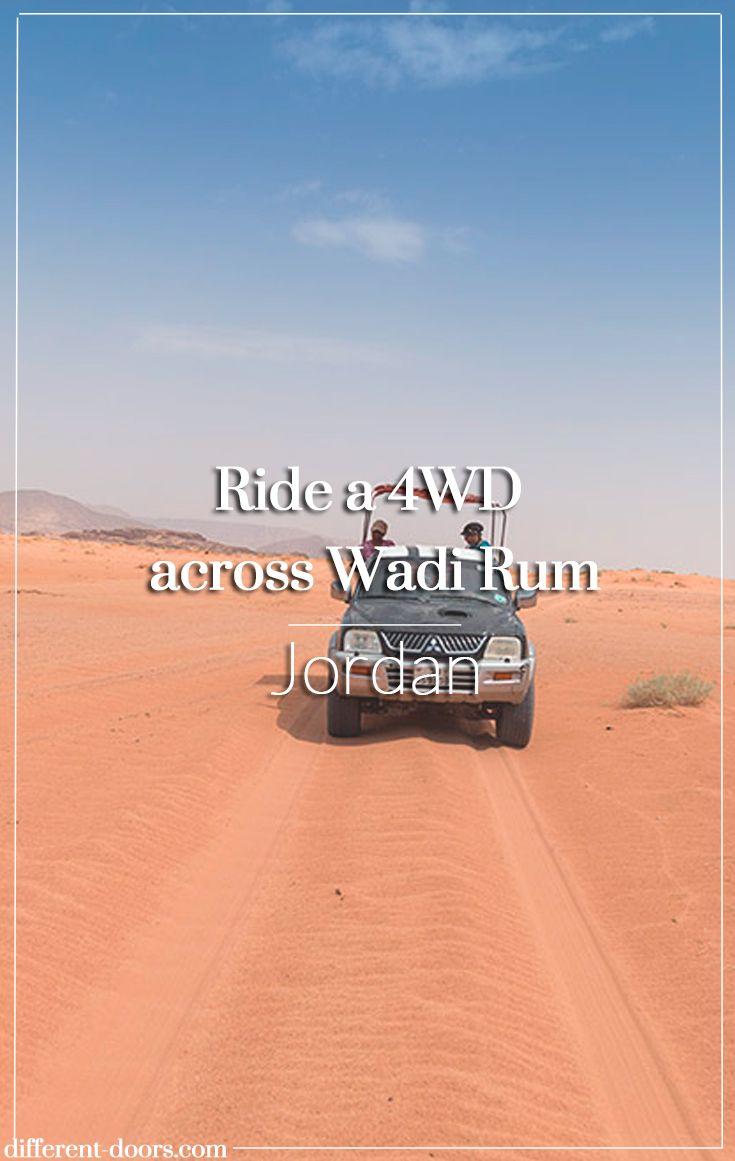 Ride a 4WD across the sands of Wadi Rum, Jordan Jordan Tourism Board