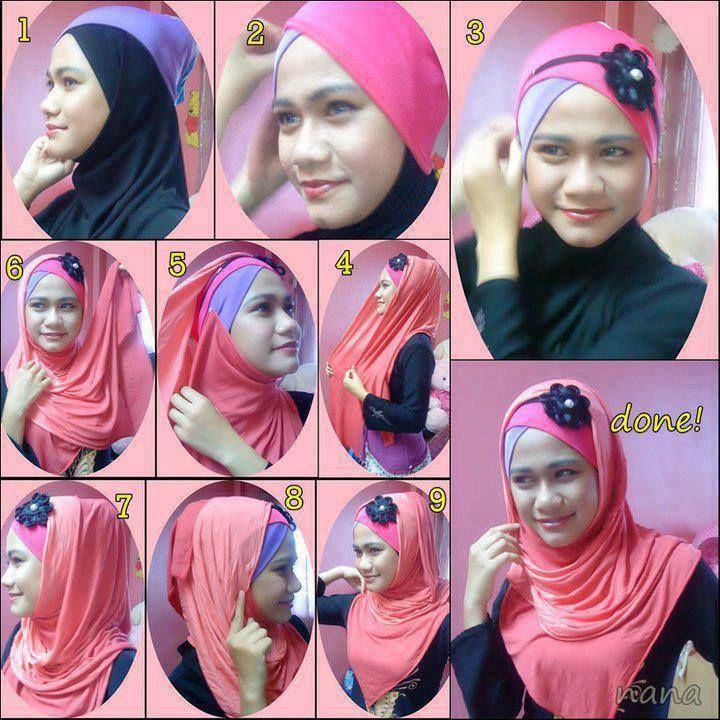 Tutorial Hijab Modern 5