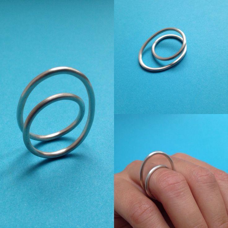 Made by Ella silver LOOP ring, www.facebook.com/madebyella, @jewelrymadebyella