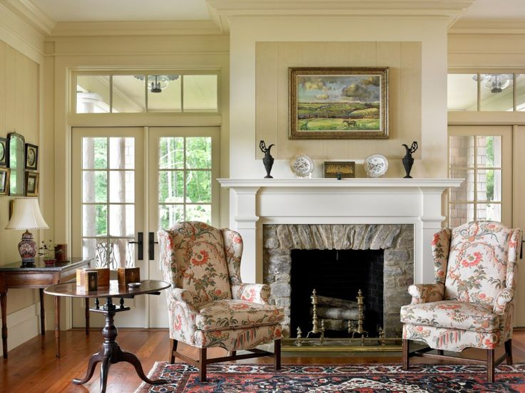 172 best fireplace images on pinterest dining room farmhouse traditional living room design love the stone fireplace surround planetlyrics Gallery