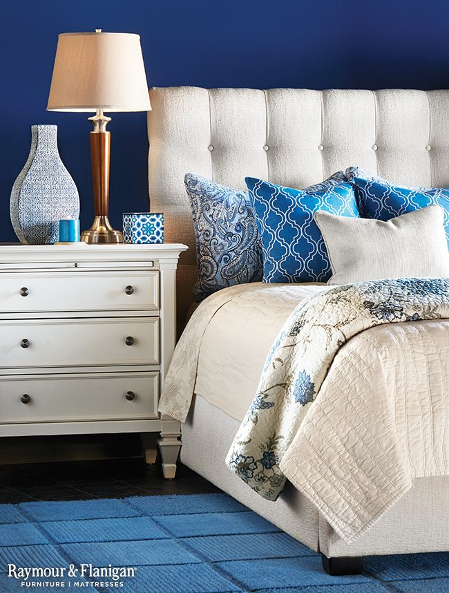 For a restful, relaxing bedroom experience, fill your room with blue.