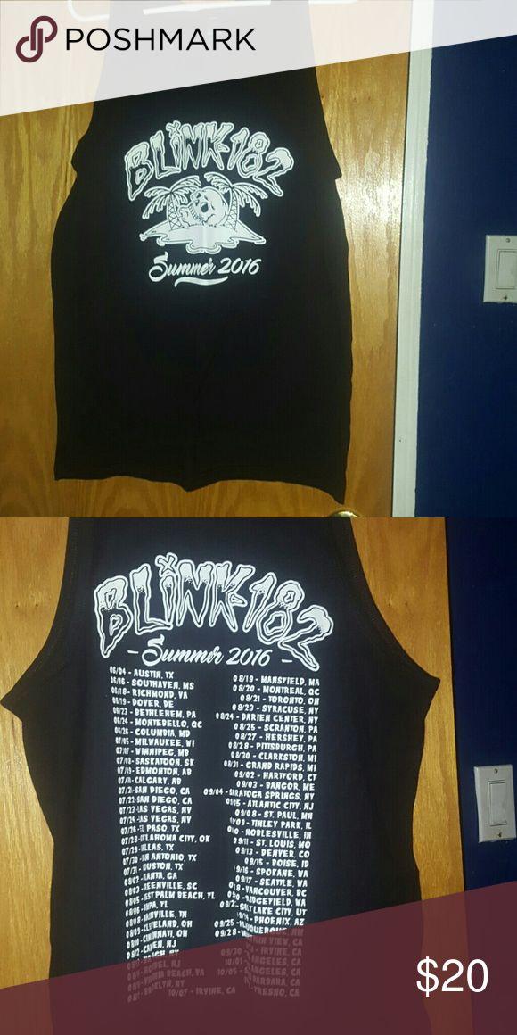 Blink 182 summer 2016 tour shirt Selling a men's large blink 182 summer 2016 shirt.  I got this on tour and never worn.  Smoke free home Blink 182 Shirts Tank Tops