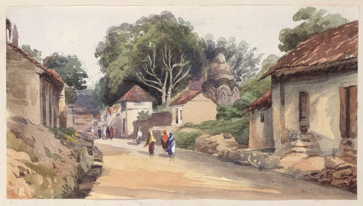 'Poonah [Pune]. A street in the suburbs of the City. 13 September 1871'.