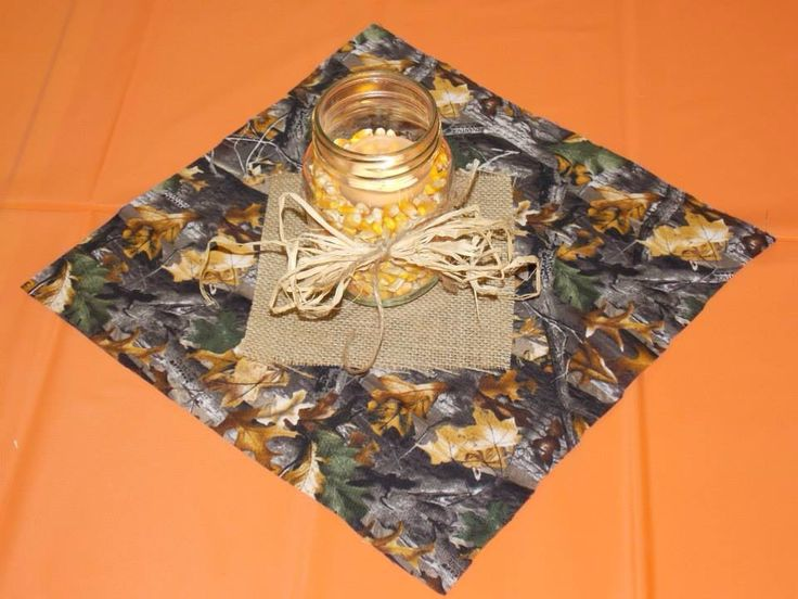 Table decor for hunting theme party