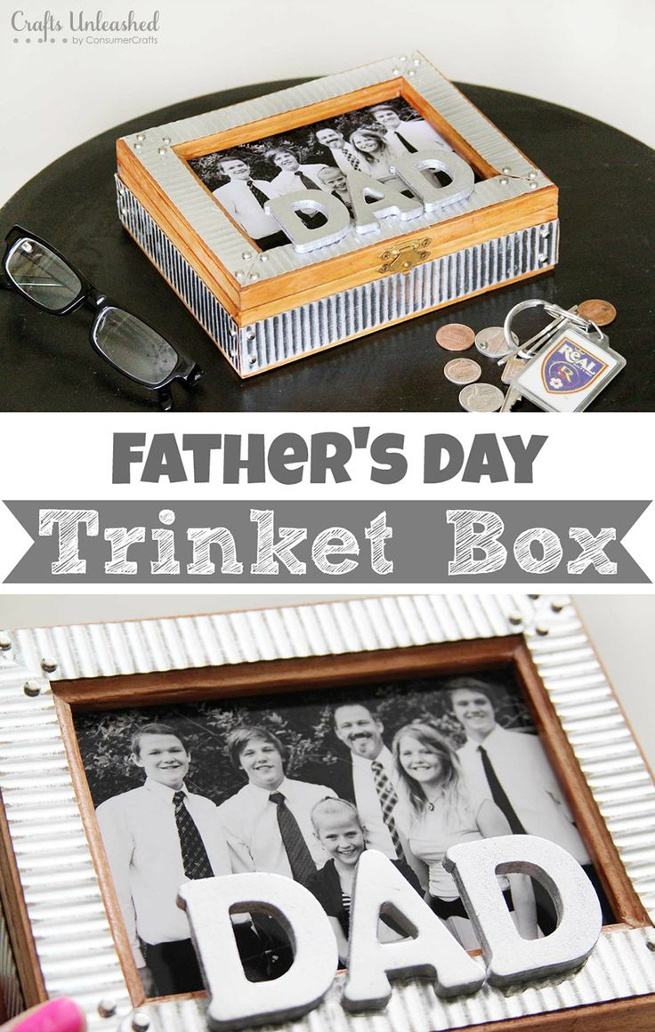DIY Trinket Box For Father's Day This is NOT metal- it's cardstock! So cool!