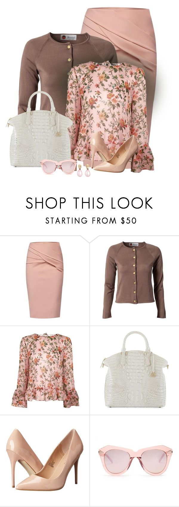 """ooo so classy in Peach!"" by seahag2903 ❤ liked on Polyvore featuring WtR, Busnel, Topshop, Brahmin, Madden Girl, Karen Walker and Monies"