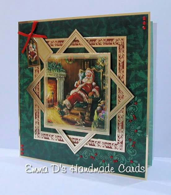 handmade Christmas card from Hunkydory Crafts: Night Before Christmas ... like the layerig ... beautiful papers from Graphics 45
