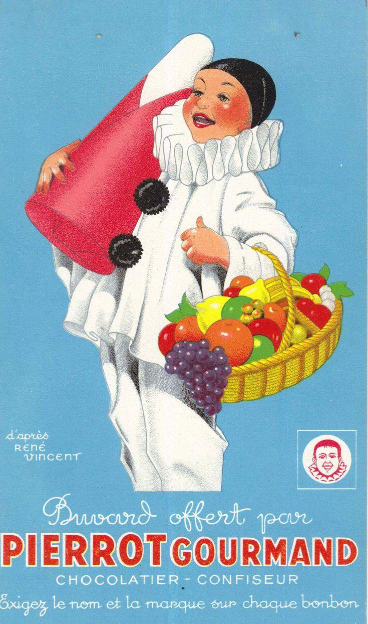 Buvard offert par Pierrot Gourmand.                                                                                                                                                      Plus