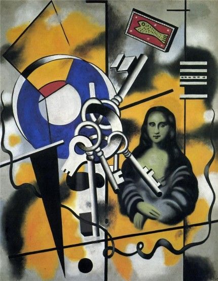 Mona Lisa with the keys - Fernand Leger -