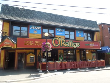 O'Reilly's. One of the most famous spots on George St. Live Newfoundland music is a favourite!