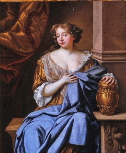 Actress Moll Davis, painted by Mary Beale (English portrait painter, 1632-1697)