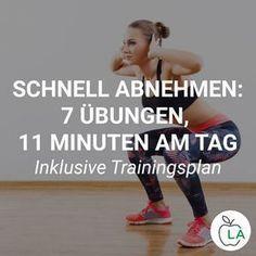 Schnell abnehmen durch Krafttraining: 7 Übungen, 11 Minuten am Tag